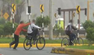 Menores en bicicleta hacían maniobras imprudentes en pista de Costa Verde