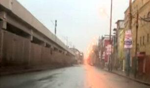 Así luce avenida Aviación un día después del desalojo de comerciantes informales