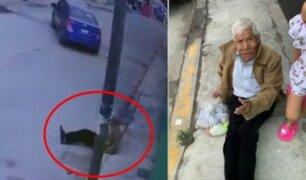 Anciano fue abandonado por su hija en plena vía pública