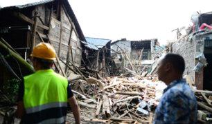China: caos y destrucción por fuerte terremoto de magnitud 6