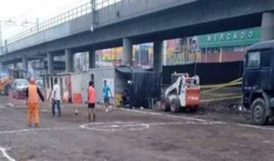Panamericanos 2019: convierten obras inconclusas en ''canchitas de fútbol''