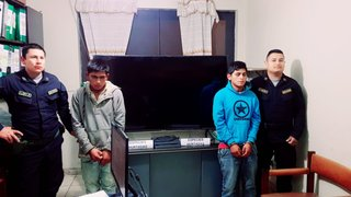 Capturan a delincuentes que robaron moderno televisor para ver el Perú-Bolivia