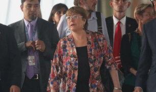 Bachelet llegó a Venezuela para reunirse con Maduro y Guaidó