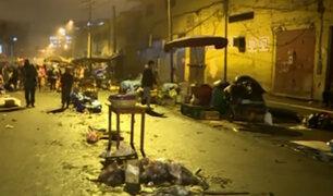 La Victoria: ambulantes desalojados toman avenida Hipólito Unanue