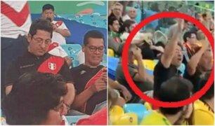 Salvador Heresi fue captado alentando a Selección Peruana en Brasil