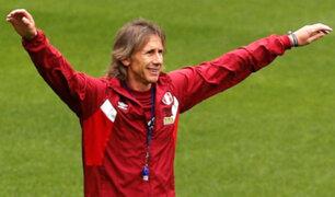 Copa América: Gareca se divirtió en práctica y recibió este singular regalo
