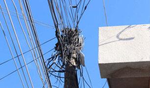 Miraflores: 10 mil metros de cables aéreos fueron retirados por municipalidad