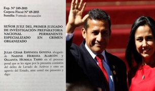 Defensa de Humala-Heredia presenta reacusación contra juez Concepción