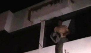 Huancayo: amenazó lanzarse de segundo piso para que no detengan a su hija