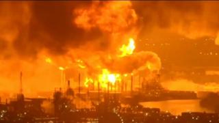 Así fue la impactante explosión de la refinería de Filadelfia