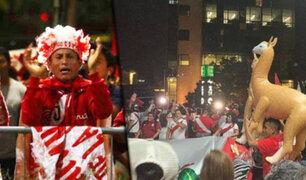 """Así fue el """"Banderazo"""" de los hinchas para la selección peruana en Sao Paulo"""