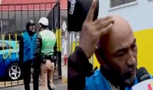Agente de seguridad de Gamarra da su versión sobre pelea con policía