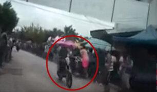 Iquitos: competencia de motocicletas terminó en accidente