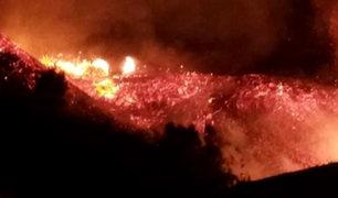 Áncash: incendio forestal causa pánico en zona urbana de Samanco