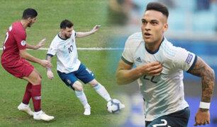 Argentina derrota 2-0 a Qatar y pasa a cuartos de la Copa América 2019