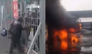 Ate Vitarte: reja impidió labor de bomberos durante incendio en Los Sauces