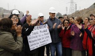 Vecinos de El Agustino y SJL agradecen inicio de obras de puente que unirá distritos