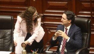 Salaverry: nuevo proyecto de financiamiento de partidos se verá en próximo pleno