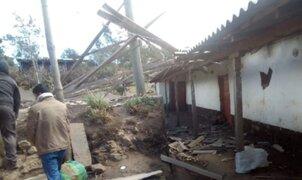 Piura: vientos huracanados deja varias viviendas y campos de cultivo afectados