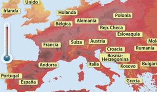 Temperatura en países europeos podrían alcanzar los 45 grados por ola de calor