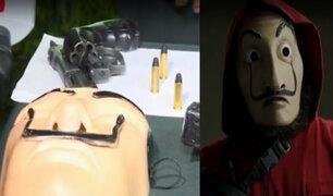 """Cercado: roban agencia de banco usando máscaras de """"La casa de papel"""""""