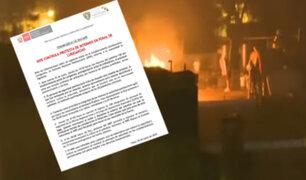 INPE: motín en Lurigancho fue controlado sin heridos de gravedad ni fallecidos