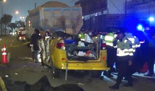 Lurín: choque de miniván con volquete deja cinco muertos y tres heridos