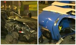 Los Olivos: dos muertos deja aparatoso choque de auto y mototaxi
