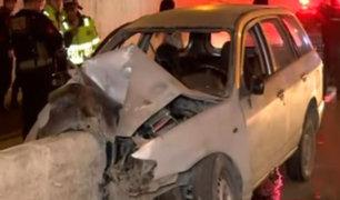 San Borja: aparatoso accidente en Av. Javier Prado dejó un muerto