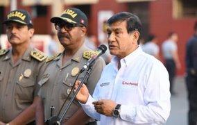 Ministro Carlos Morán anuncia evaluación a generales de la PNP en julio