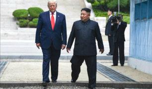 Trump se convierte en el primer presidente de EEUU que cruza a Corea del Norte