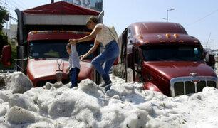 México: Guadalajara quedó de blanco por intensa granizada