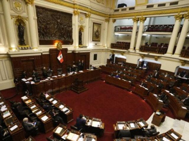 Pleno del Congreso aprobó modificar proyecto de reforma sobre inscripción de partidos