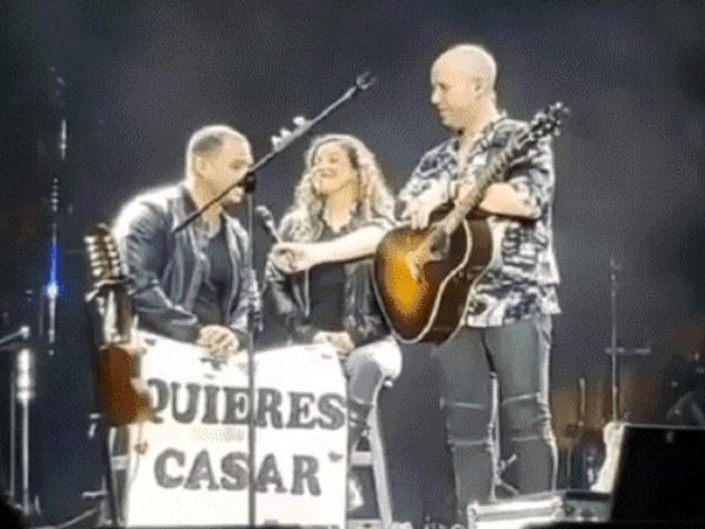 Cusco: joven le pide matrimonio a su pareja en pleno concierto de Gian Marco
