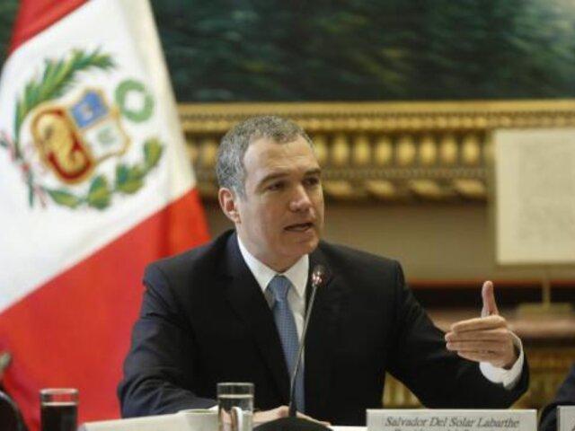 Del Solar criticó que no se aprobara propuesta de inmunidad del Ejecutivo