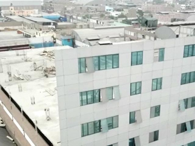 Telesup: esta es la falsa pared que simulaba edificio en SJL