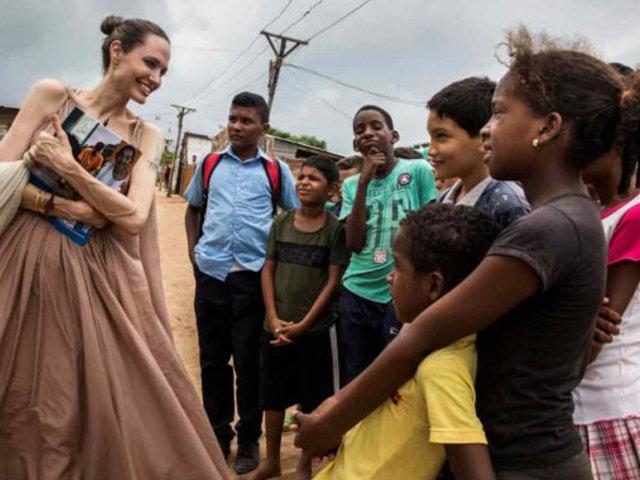Angelina Jolie: Unos 20 mil niños venezolanos necesitan urgente ayuda