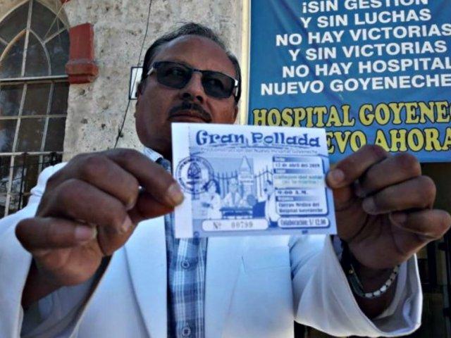 Arequipa: médicos realizaron pollada para comprar equipos para hospital