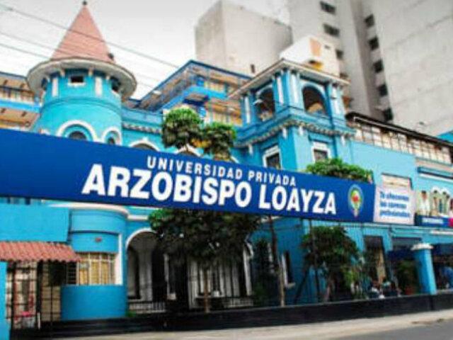 Sunedu niega licencia de funcionamiento a U. Arzobispo Loayza