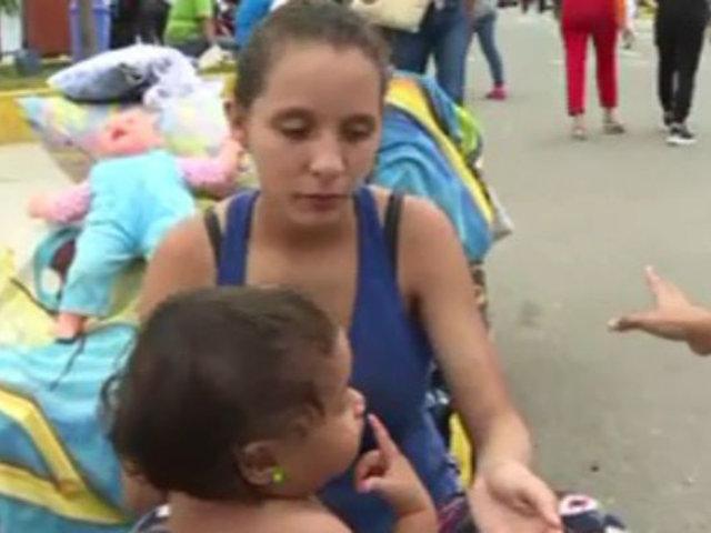 Tumbes: situación de migrantes venezolanos es más crítica a horas de cumplirse plazo