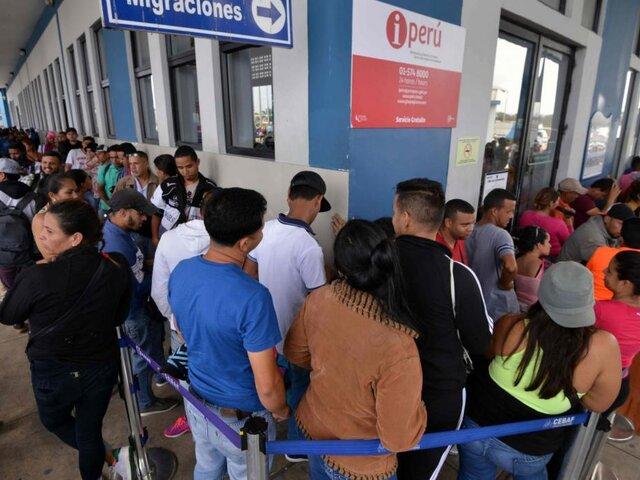 Cerca de 3 mil venezolanos buscan ingresar a Perú con Visa Humanitaria