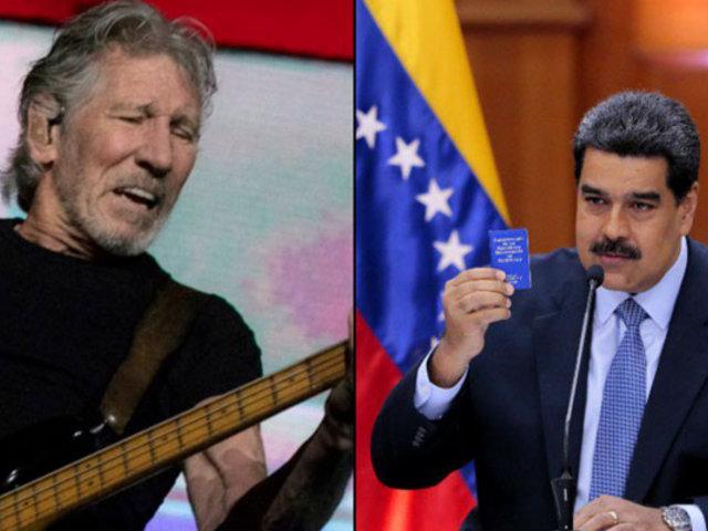 Maduro regaló guitarra a Roger Waters en agradecimiento por apoyo a su mandato