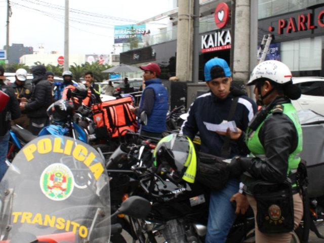 Miraflores: reglamento para regular uso de motos delivery sería emitido en los próximos días