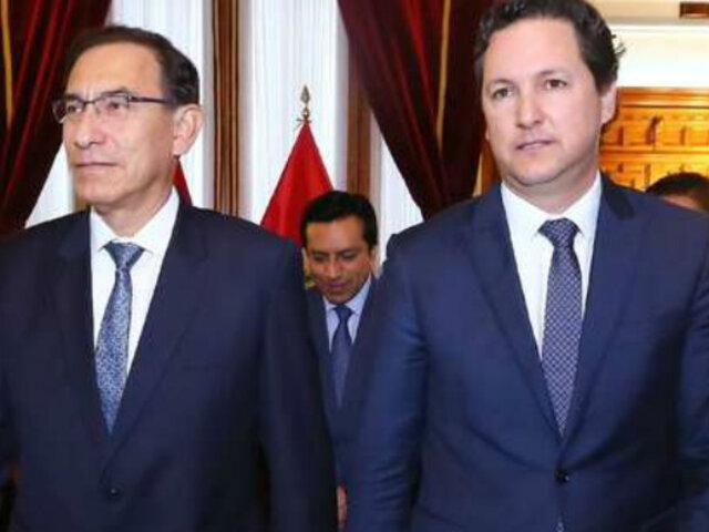 Salaverry se reunió con Vizcarra para evaluar plazos sobre reforma política