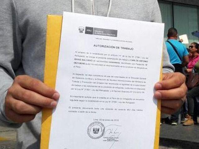 """Aumenta la cifra de venezolanos que ingresan al país con """"carta de refugio"""""""