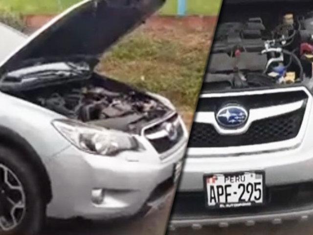Callao: hallan vehículo usado por delincuentes para robar furgoneta