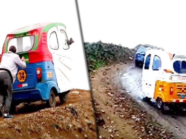 Mototaxistas rápidos y furiosos en los cerros de Lima
