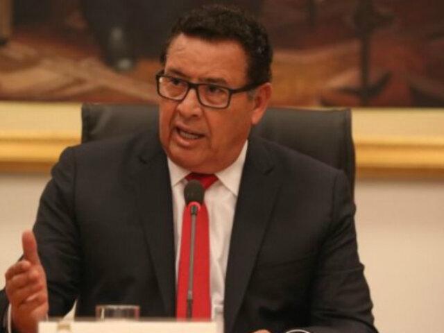 José Huerta: declaran dos días de duelo oficial por muerte de ministro