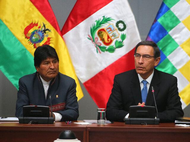 Presidente Vizcarra se reúne con Evo Morales en el V Gabinete Binacional