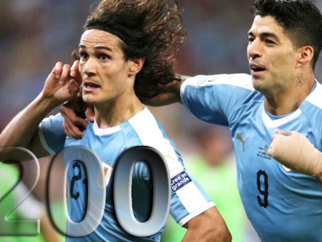Uruguay es la primera selección que alcanza 200 partidos en la Copa América